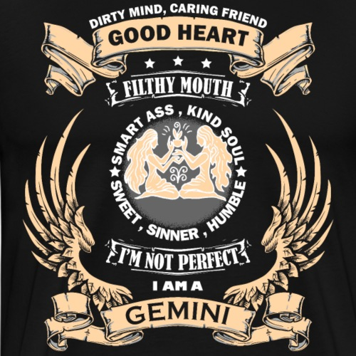 Zodiac Sign - Gemini - Men's Premium T-Shirt