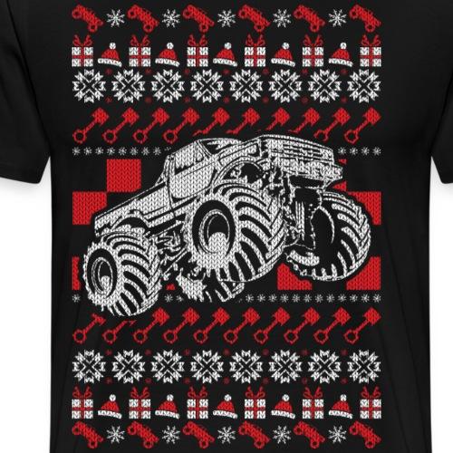 Monster Truck Christmas - Men's Premium T-Shirt