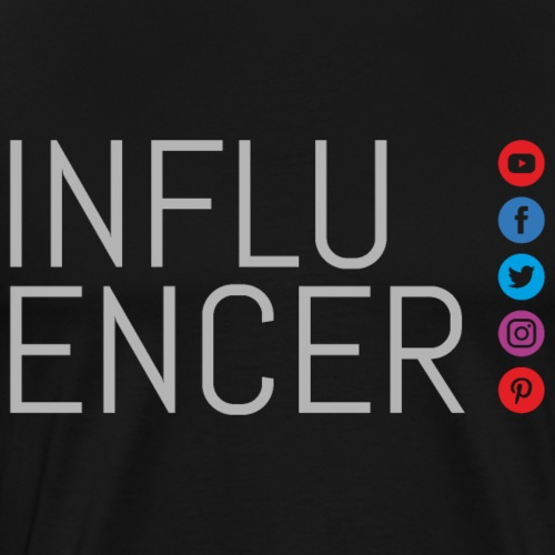 social media influencer - Men's Premium T-Shirt