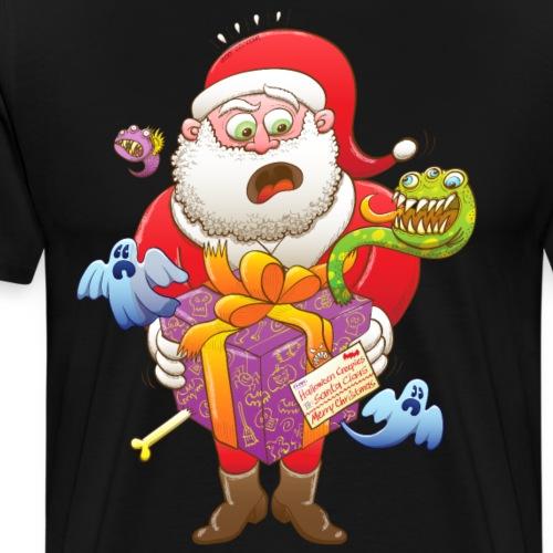A Christmas Gift from Halloween Creepies to Santa - Men's Premium T-Shirt