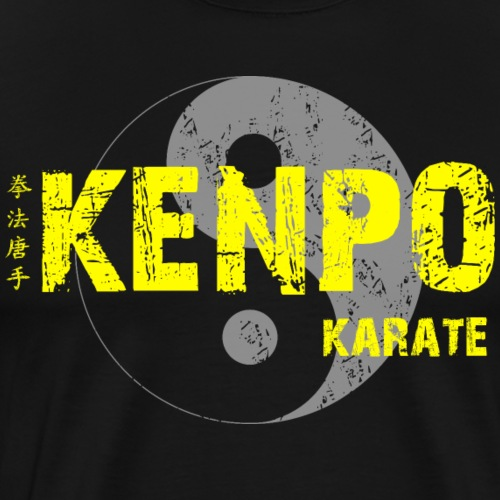 kenpo Yin Yang yellow - Men's Premium T-Shirt