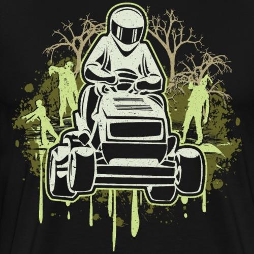 Lawn Mower Racing Zombies - Men's Premium T-Shirt