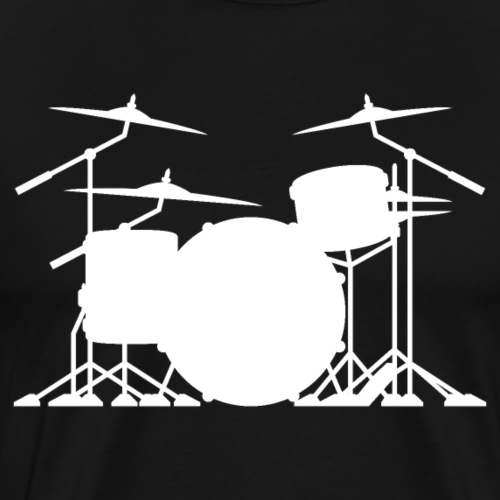 Drum set silhouette illustration - Men's Premium T-Shirt