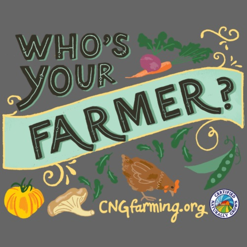 Who's Your Farmer (Design for light colored shirt) - Men's Premium T-Shirt