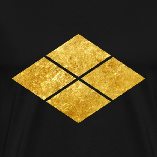 Takeda kamon Japanese samurai faux gold - Men's Premium T-Shirt