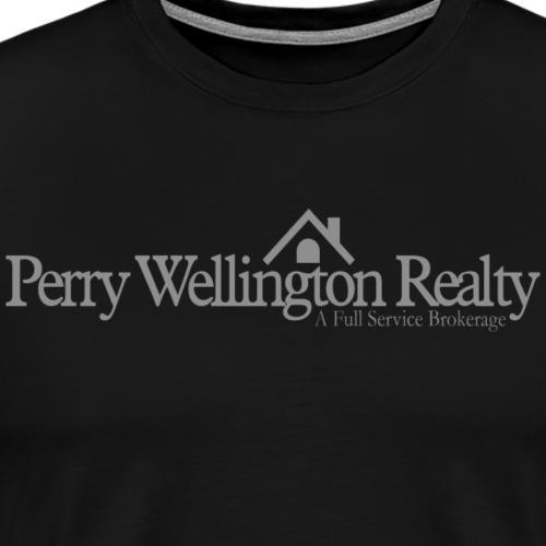 Perry Wellington logo - grey - Men's Premium T-Shirt