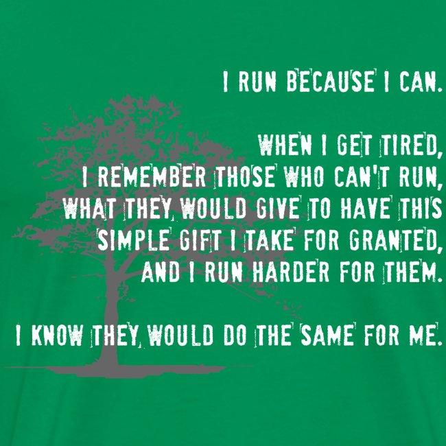 RUN BECAUSE I CAN