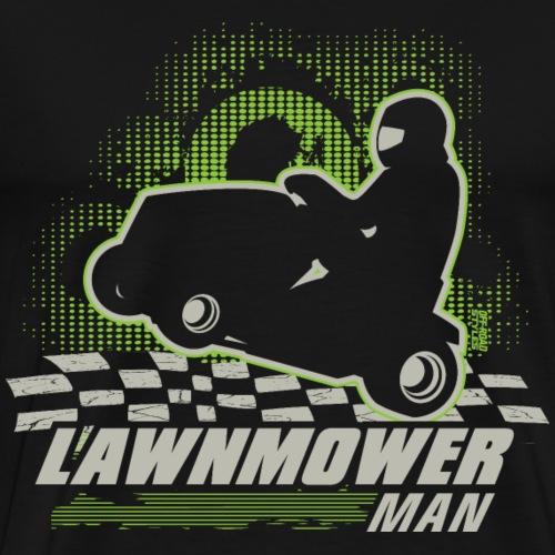Lawnmower Racing Man - Men's Premium T-Shirt