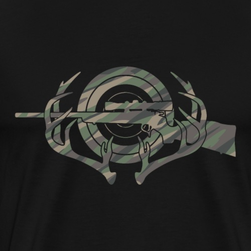 Camouflage Hunting and Shooting Sports Logo - Men's Premium T-Shirt