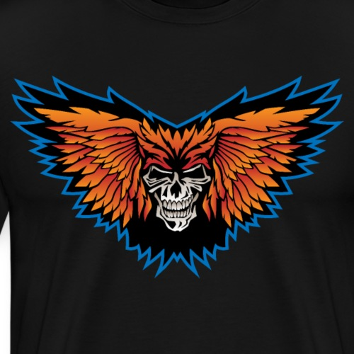 Winged Skull Illustration - Men's Premium T-Shirt