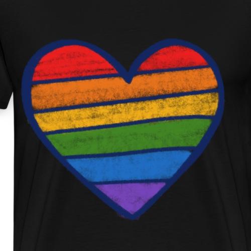 gay rainbow heart - Men's Premium T-Shirt