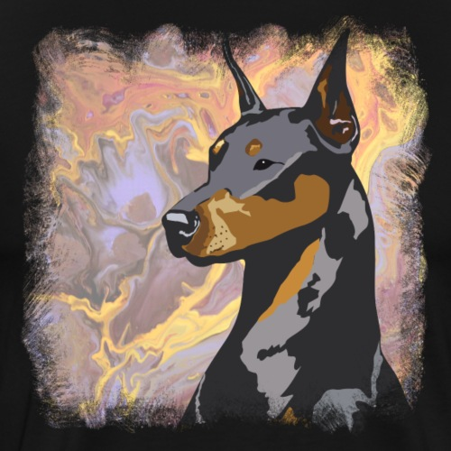 Doberman Art - Men's Premium T-Shirt