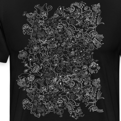 Crazy Halloween monsters pattern - Men's Premium T-Shirt