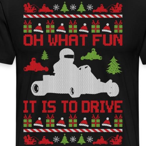 Go Kart Ugly Christmas - Men's Premium T-Shirt