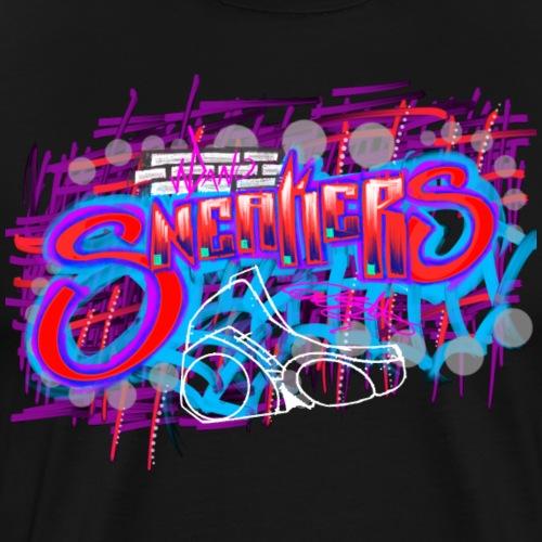 Sneakers Graffiti Design - Men's Premium T-Shirt