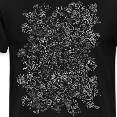 Crazy Halloween monsters pattern - Men's Premium T-Shirt