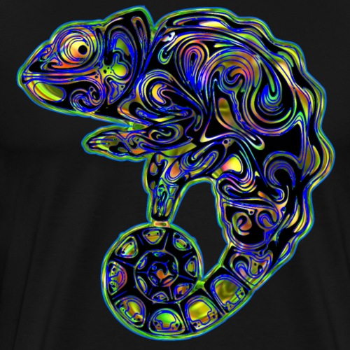 Colorful Abstract Chameleon Rainbow Colors - Men's Premium T-Shirt