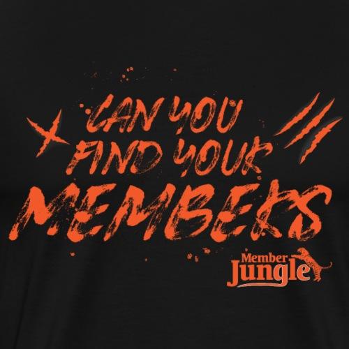 Find Your Members Orange - Men's Premium T-Shirt