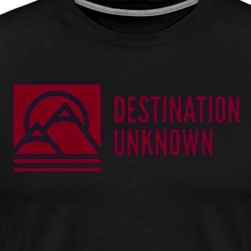 Modern Logo Maroon - Men's Premium T-Shirt