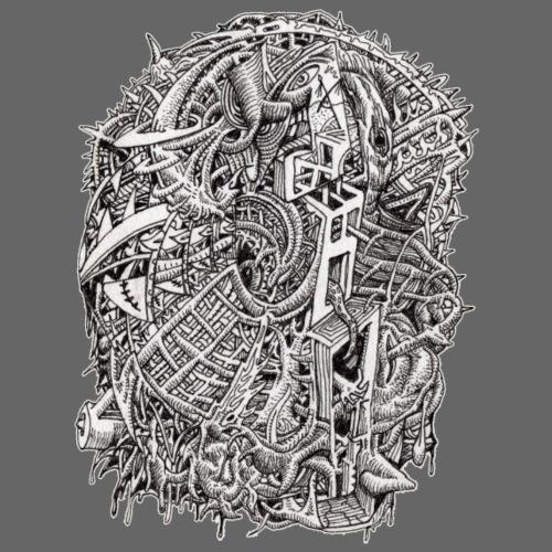 weirdhead-by-brian-benson - Men's Premium T-Shirt
