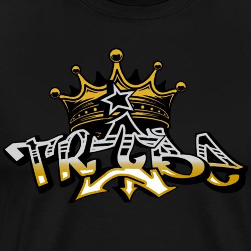 Impower Tribe crown graffiti font design - Men's Premium T-Shirt