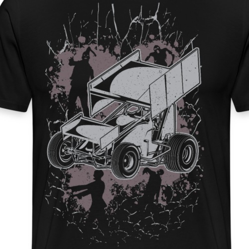 Winged Sprint Car Zombie - Men's Premium T-Shirt