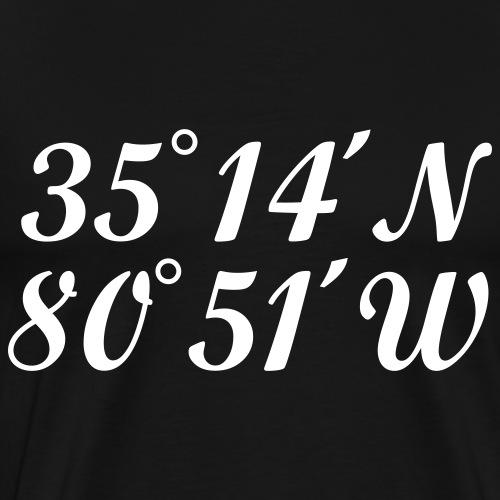 Charlotte Coordinates Latitude and Longitude - Men's Premium T-Shirt