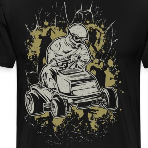 Lawnmower Zombie Web - Men's Premium T-Shirt