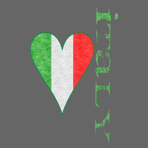 distressed italy heart - Men's Premium T-Shirt