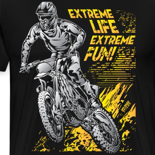 Extreme Life Motorcycle - Men's Premium T-Shirt