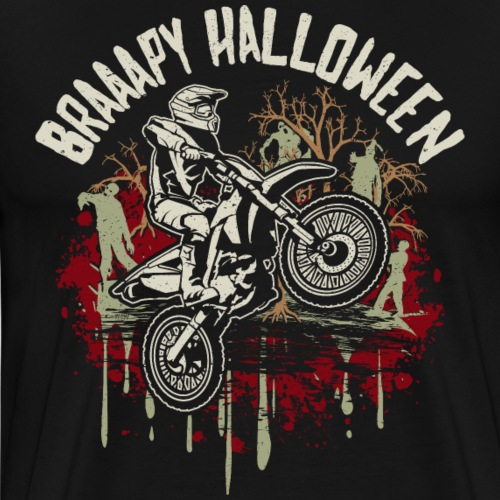 Dirt Bike Happy Halloween - Men's Premium T-Shirt