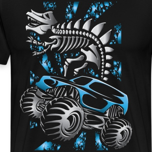 Monster Truck Skelton Blue - Men's Premium T-Shirt