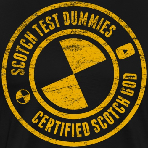 Scotch Test Dummies...Certified Scotch God - Men's Premium T-Shirt