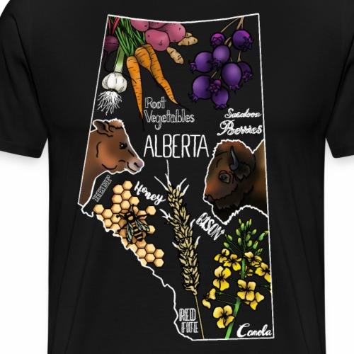 Foods of Alberta (White) - Men's Premium T-Shirt