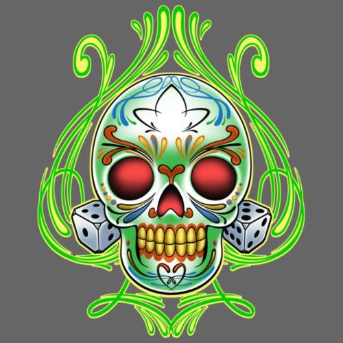 Dice Skull by RollinLow - Men's Premium T-Shirt
