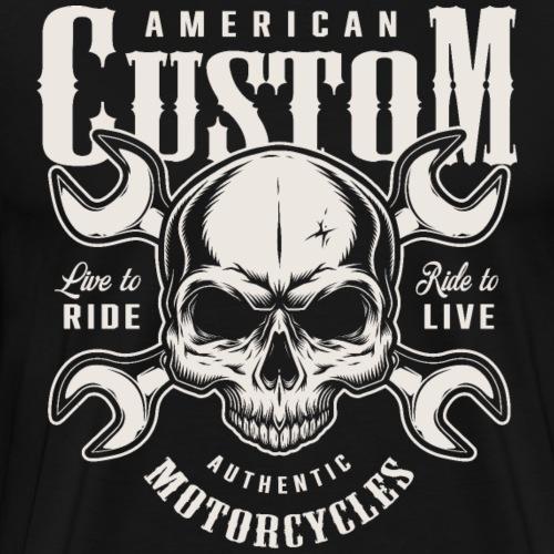 custom motorcycles biker - Men's Premium T-Shirt