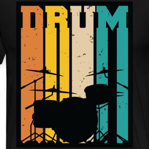 Retro Drum Set Silhouette Illustration