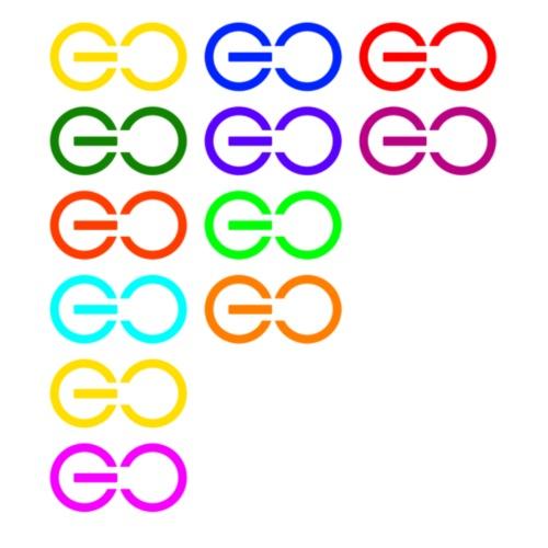 GOGOGO multi color - Men's Premium T-Shirt