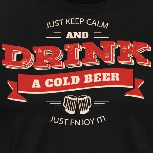 festival drinking Retro Poster beer - Men's Premium T-Shirt