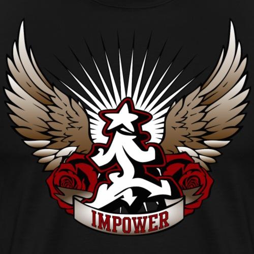 Wing Rose Design - Men's Premium T-Shirt
