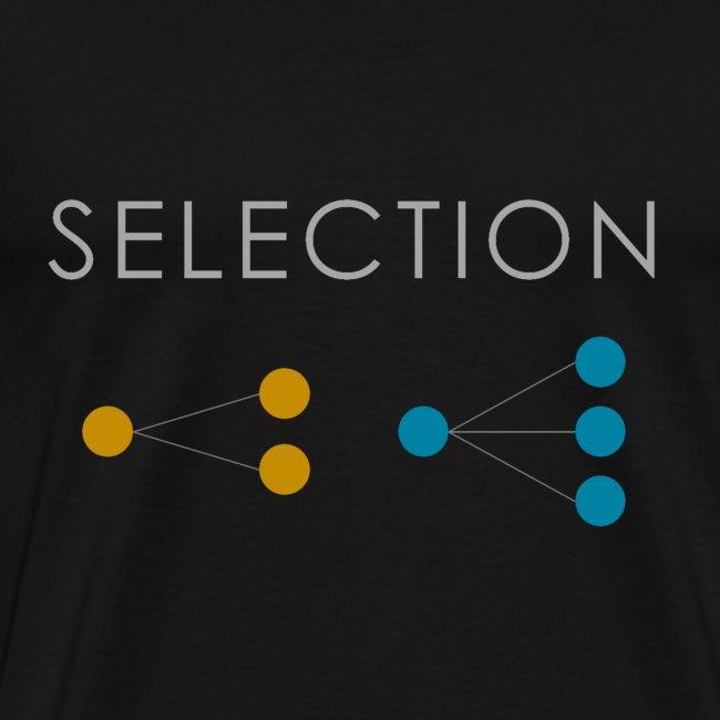 Minimalist design: selection (dark background)