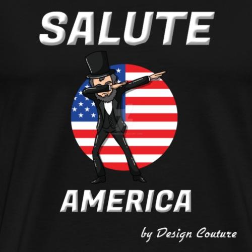 SALUTE AMERICA WHITE - Men's Premium T-Shirt