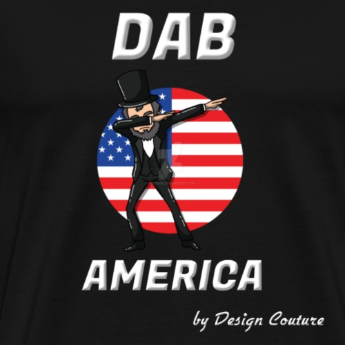 DAB AMERICA WHITE - Men's Premium T-Shirt