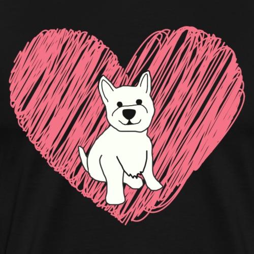 Westie Heart - Men's Premium T-Shirt