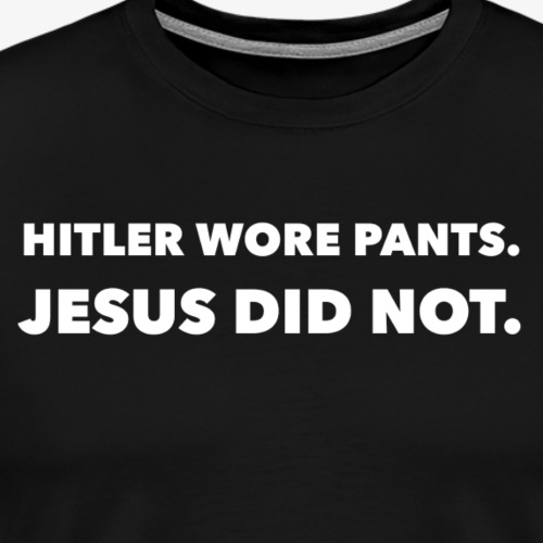 Hitler and Jesus - Men's Premium T-Shirt