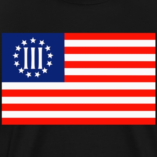 3 Percenters Flag - Men's Premium T-Shirt