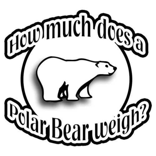 How Much Does A Polar Bear Weigh? - Men's Premium T-Shirt
