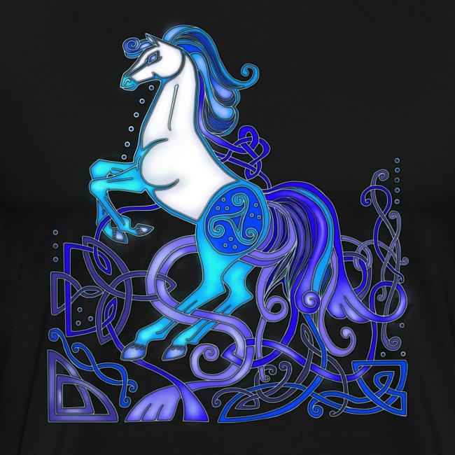 Celtic Horse Silver Blue