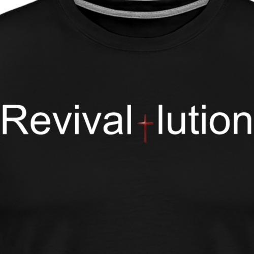 Revivallution White Logo - Men's Premium T-Shirt