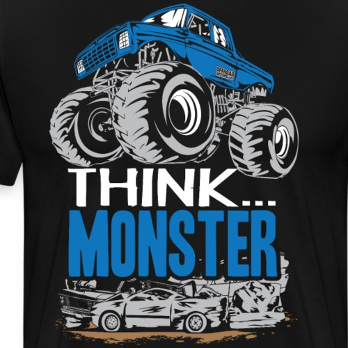Think Monster Truck Blue - Men's Premium T-Shirt